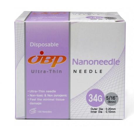 JBP Nanoneedle 34G- 100 pc (4mm)